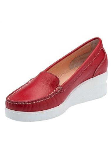Hush Puppies %100 Deri Ayakkabı Kırmızı